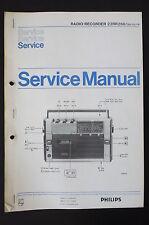 PHILIPS Radio Registratore 22RR260 Orig. Manuale di Servizio/Schema elettrico+