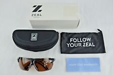 09499e9020 Zeal Helix Men s Sports Sunglasses Polarized Gloss Black Frame Cooper Lens  NEW