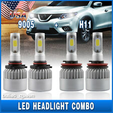 9005 H11 Combo LED Headlight Kit for Chevy Silverado 1500 2500 3500 HD 2007-2019