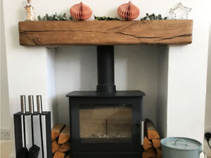 Rustic Oak Beam Fireplace Mantel Solid Aged Various Sizes