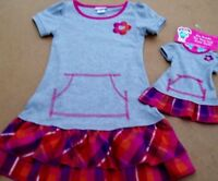WHAT A DOLL RUFFLED PINK PLAID DRESS 6-6X 10-12 ++ MATCHING DRESS FOR A DOLL