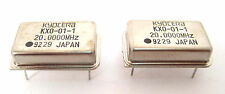 20-Mhz Crystal Clock Oscillators: DIP Case Style: Lots of 2: Great Price