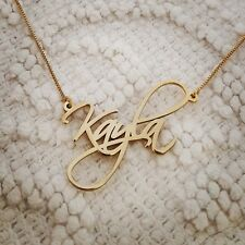14k Solid Yellow Gold Personalized Name Necklace, Kayla necklace Order Any name