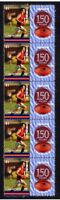COBURG FC VFL 150th FOOTBALL STRIP OF 10 VIGNETTE STAMPS