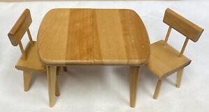 "Vintage Strombecker Doll Table Leaf 2 Chairs For 8"" Ginny vogue Alexander kins"