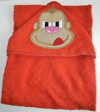 Baby Hooded Bath towel RED MONKEY