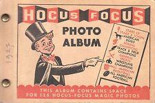 1949 Topps Magic Photos Hocus Focus Gum Card Album