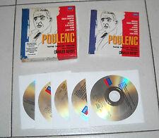 Box Set 5 Cd FRANCIS POULENC Concertos Orchestral Works Charles Dutoit