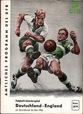 Länderspiel 26.05.1956 Deutschland - England in Berlin