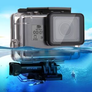 PER GOPRO HERO 5 6 (7 BLACK) CUSTODIA TRASPARENTE CASE WATERPROOF 30m SUBACQUEA