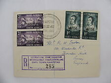 R-cover South Africa Sadipu ship Stamp exhibition Kaapstad Cape Town 1952