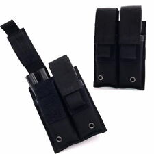 Tactical Rifle Double Magazine Pouch Pistol Mag Pouch 600D Nylon Fabric Pouch