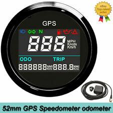 52mm Marine Car Digital GPS Speedometer Odometer Adjustable 0~999 Km/h MPH Knot