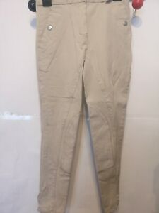 """24""""W 22""""L CHILD CREAM RED HORSE HACK SHOW PONY HORSE RIDING COMPETITION JODHPURS"""