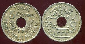 TUNISIE  TUNISIA  5 centimes  1919  ( aus )