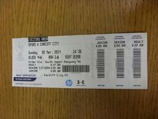 02/03/2014 Ticket: Tottenham Hotspur v Cardiff City  (Visitors Area). Thanks for