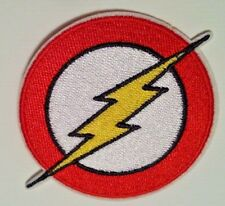 """The Flash Patch~3 1/2"""" x 2 3/4""""~Embroidered Applique~DC Comics~Iron or Sew on"""