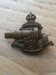WW1 The Royal Garrison Artillery RGA Brass Early SWEETHEART BROOCH very rare