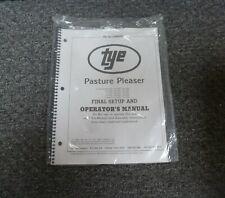 Tye 104 3404 Pasture Pleaser No Till Drill Final Setup Amp Owner Operator Manual