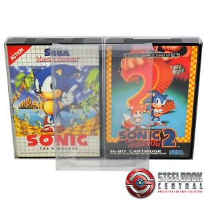 5 x GP15 Mega Drive / Master System Game Box Protectors For Sega 0.4mm PET Case