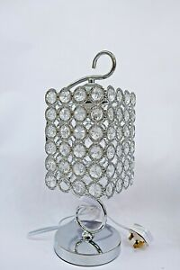 Thin metallic frame crystallic table lamp with incorporated LED [DSSCC01]