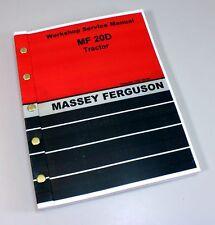 MASSEY FERGUSON MF 20D TRACTOR SERVICE REPAIR MANUAL SHOP BOOK