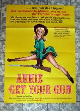 ANNIE GET YOUR GUN * HUTTON, KEEL - A1-FILMPOSTER WA -German 1-Sheet RR1950/´64