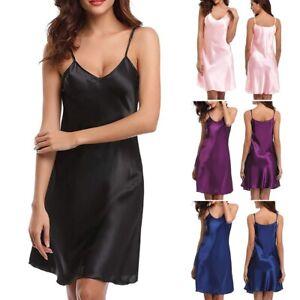 Womens Summer Full Slip Under Dress Spaghetti Ladies Strappy Underskirt UK 8-20