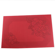 Red Placemats Set of 6 Heat Insulation Stain Resistant Kitchen Dinner Table Mats
