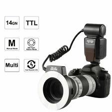 K&F Concept Macro Ring Speedlite Flash i-TTL TTL For Nikon Free 6 Adapter Rings