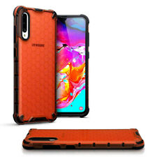 Samsung Galaxy A70 Shockproof  Fitted Case Bumper Honeycomb  RED  OMNITECH™