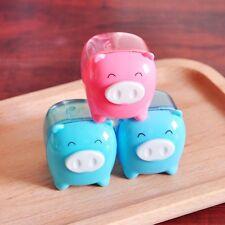 Cute Cartoon Pig Style Pencil Sharpener Manual Hand Crank Rotary Student Desktop