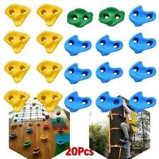 20X Climbing Holds Set Rock Wall Stones with 40pcs Screws For Kid Children