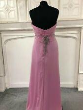 BNWT Jim Hjelm  Bridal/bridesmaid gown rose pink chiffon  size 12 Style 5128