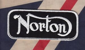 """Norton Motorcycle Embroidered Patch, Small 5"""" x 2"""" , UK Made. F/SH"""