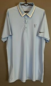 MEN'S NIKE VICTORY RF ROGER FEDERER TENNIS SHIRT JERSEY POLO GOLF SIZE S SMALL