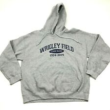 NEW Wrigley Field Chicago Cubs Sweatshirt Hoodie Men's Size Large L Gray Sweater