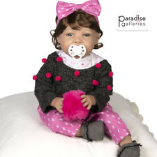 Paradise Galleries Realistic Toddler Doll - I Love You More with Magnetic Mouth
