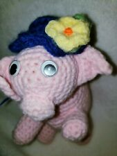 Adorable Vintage Crocheted Piggy Infant's/Baby Rattle B.I.N.