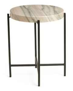 Azula Stone Top Accent Table Solid Stone Top Living Room Unique Modern Home