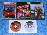 5 Microsoft Xbox Video Games Project Gotham Racing 2 Battlefield 2 Excellent