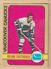 HOCKEY CARD NHL 1972-73 ORLAND KURTENBACH  VANCOUVER CANUCKS  OPC  #141