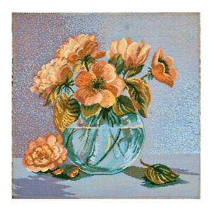 Tápiz Tapicería Tapestry Panel Imagen de Tela Ramo Artesanal Tela 32x32