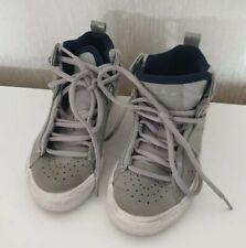 Adidas Ortholite Light Grey Hi-Tops Trainers Boys Kids 10 uk