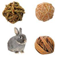 Natural Small Animal Activity Chew Toys Rabbits Bird Parrot Play Rattan Ball