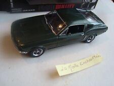 NEW GREENLIGHT 1969 FORDT MUSTANG GT BULLIT STEVE MC QUEEN 1/24 NEUVE EN BOITE