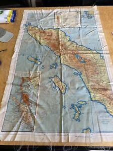 WW2 Silk Escape Map 44/E and 44/F Siam Sumatra Siam Malaya double sided