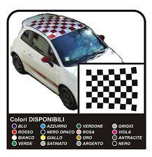 Adesivi per FIAT 500 ABARTH fasce tettino tetto scacchiera scacchi sticker decal