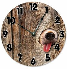 "DOG IN FENCE Clock - Large 10.5"" Wall Clock - 2072"