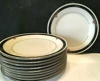 "Set of TEN (10) Noritake China ETIENNE 8 1/4"" Salad Dessert Plates UNUSED Japan"
